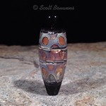Lava Pools Lampwork Glass Focal Bead