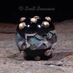 Small Galaxy Lampwork Bead with Dots
