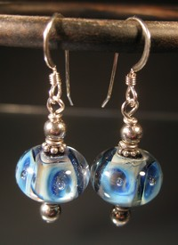 Ocean Blues Lampwork Earrings