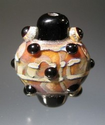 Lentil-ish Focal Bead with Bumpies by Scott Bouwens