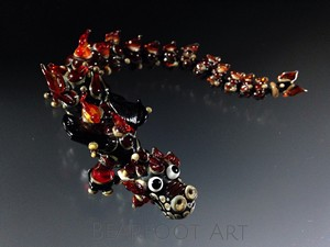 Garnet Fire Lampwork Dragon by Scott Bouwens