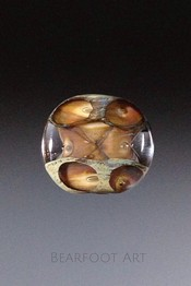 Lava Pools Lampwork Lentil Focal Bead