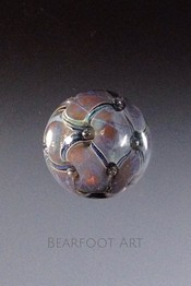 Round Air Bubbles Lampwork Focal Bead