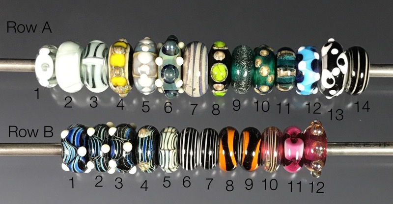 Batch of Big Hole Beads - Rows A and B