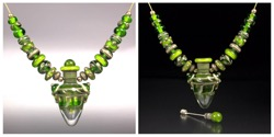 Green and SIS Vessel Pendant Set #107