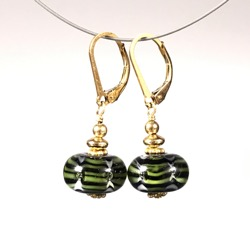 Earrings -Green #102
