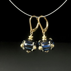 Earrings - Electric Blue #104