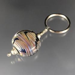 Keychain - Galaxy Bead Lentil #102